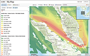 ExactEarth, a conference sponsor, has released layers showing cargo vessel density on ArcGIS Online.