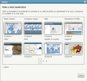 Figure 8: Application templates in Portal for ArcGIS