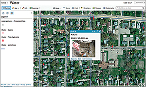 Photographs of the water system's components were geocoded and uploaded to ArcGIS Online.