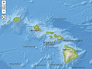 ArcGIS Online web map of the Hawaiian Islands