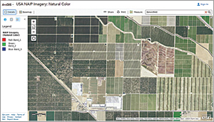 NAIP high-resolution (1 m) imagery, which is refreshed on a three-year cycle, is available for the continental United States.