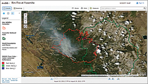Event imagery is the latest available imagery both before and immediately after major events such as the Rim Fire at Yosemite in 2013.