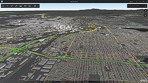 World Traffic Service in ArcGIS Earth showing near real-time traffic information