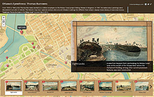 Ottawa's Eyewitness: Thomas Burrowes is a story map that explores the rich history of Canada's capital through a series of watercolors.