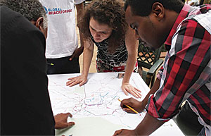 Williams worked with The Earth Institute at Columbia University on the Nairobi Free the Data project, which helped policy makers, urban planners, and community stakeholders obtain the spatial data they needed to make informed decisions about the future development of the city.