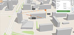 Measure distances in 3D between two points in Scene Viewer and calculate the direct and vertical distances in scenes.