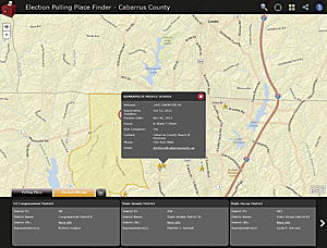 Cabarrus County's Election Polling Place Finder