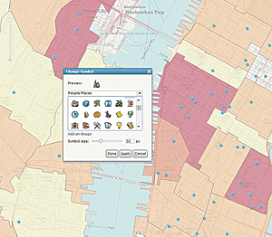 ArcGIS Online provides more choices for symbology.