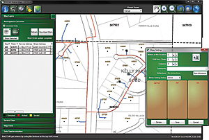 ENSTAR Mobile Maps shows near real-time meter information in the field.
