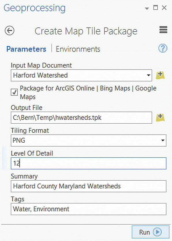 Use Tile Packages To Save Credits ArcUser - Map package us county