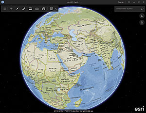 ArcGIS Earth, a new app for visualizing 2D and 3D data on a globe, can be used with Portal for ArcGIS or ArcGIS Online data.