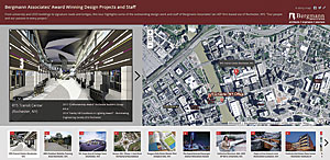 Bergmann Associates showcases its portfolio of architectural, engineering, and planning projects using a story map.