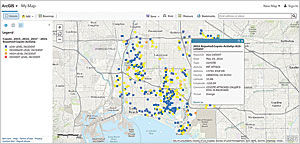 Once a dataset of interest is identified, it can be immediately mapped, symbolized, and queried in ArcGIS.