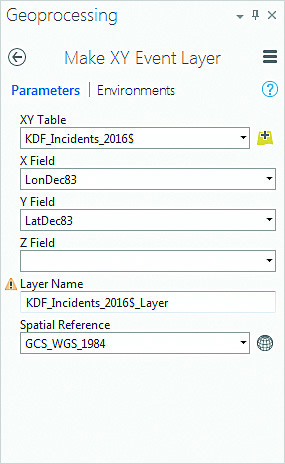 The XY Event layer retains the GCS_WGS_1984 spatial reference.