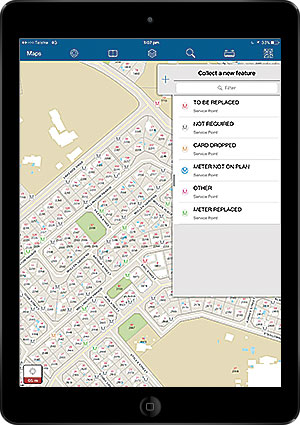 As part of the agency's Water Meter Replacement Program, iPads equipped with Collector for ArcGIS let staff and contractors efficiently collect and update information in the field and upload it to an operations center in near real time.