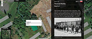 Marzena Koziak's Esri Story Maps app, The Cruel Reality, is about her project on the history of a former German Nazi Concentration Camp called Płaszów.