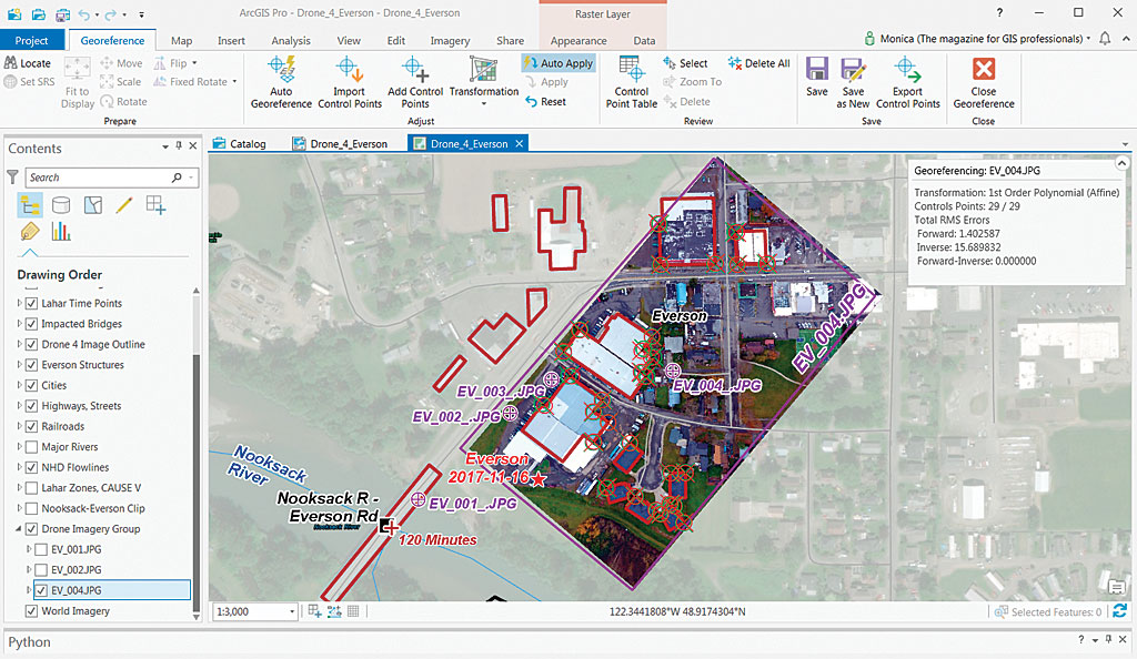 Test Georeferencing Transformations | ArcUser