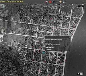 Calvert County's Historic Imagery Viewer allows visitors to look back in time at the growth of businesses and housing since 1938.