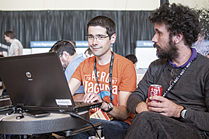 Attendees could show their skills at the Hackathon.