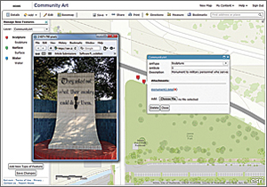 The information collected in the field updates the Community Art map on ArcGIS Online.