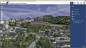 Esri CityEngine Web Viewer makes web scenes available for 3D presentations.