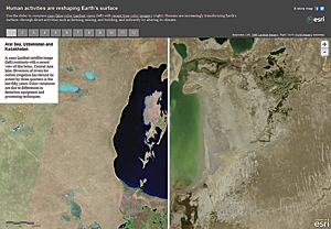 This story map provides insights into climate changes that have occurred in recent decades using images from Landsat's 40-year archive.