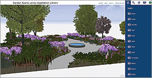 The free Esri 3D Vegetation Library contains 80 realistic 3D models of flowers, shrubs, and trees.