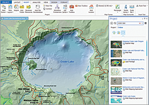 In ArcGIS Pro, your work is organized into projects.
