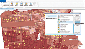 Geoprocessing provides a rich suite of tools for performing spatial analysis and managing GIS data in an automated way.