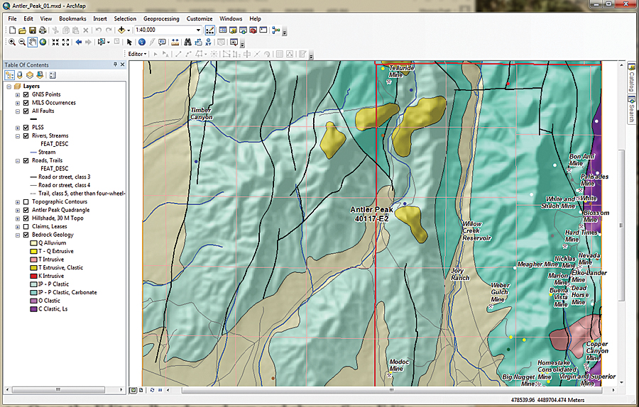 This Exercise Uses Data Shown On The Us Geological Survey Antler Peak 7 5 Minute Quadrangle