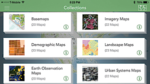 Browse the Living Atlas of the World from mobile devices.