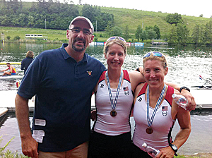Coach Matt Madigan and his crew of Sarah Trowbridge and Margot Shumway earned a spot to race at the Olympics in the women's double sculls by finishing first at the Olympic Qualification Regatta in Lucerne, Switzerland, in 2012.