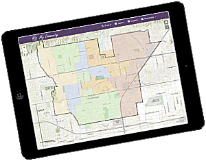 GIS maps, such as this one showing trash collection zones, make it easy for residents to get information about city services at any time without calling the city.