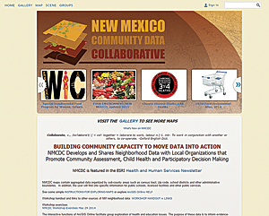 The New Mexico Community Data Collaborative (NMCDC) uses its ArcGIS Online site to share more than 200 neighborhood-level datasets.