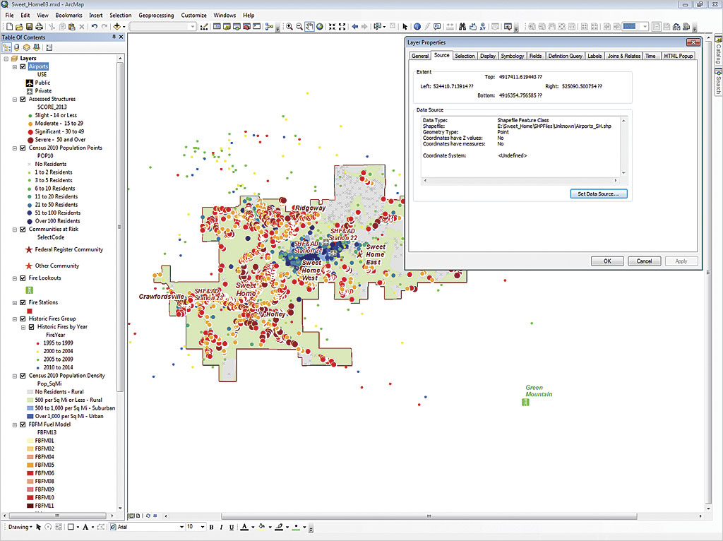 Attacking Coordinate Systems And Datums ArcUser - Univerasl us coodirnate system arc map