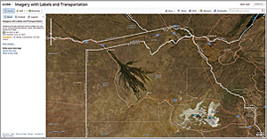 The vast collection of geographic data available from ArcGIS Online can be accessed on the web, desktop, and server in additional to mobile devices. Okavango Delta, Botswana, is shown in the Imagery with Labels and Transportation web map, which uses the World Imagery map service combined with two reference layers.