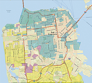 Using Community Analyst Tapestry Segmentation information and census block demographic data, the San Francisco Department of the Environment identified three key population segments that would likely consider purchasing energy upgrade packages.