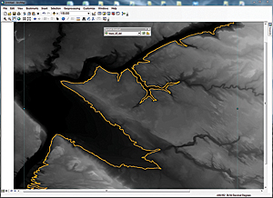 Use the Create Contour tool from the Spatial Analyst toolbar to create a single sample contour line.