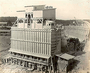 The 164-foot Medina Dam was completed in November 1912. Photo courtesy of edwardsaquifer.net.