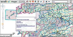 This Scoilnet Maps service streams maps and images directly from Ordnance Survey Ireland and draws on dozens of free data layers made available by the Department of Environment and other agencies.
