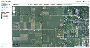 The multiband, high-resolution (1 m) aerial imagery for the continental United States can be used for analysis.