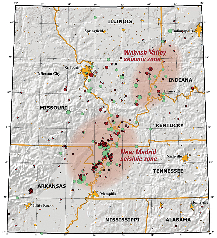 The new madrid seismic zone red circles indicate earthquakes that occurred from 1974 to 2002 with magnitudes greater than 25 gumiabroncs Gallery