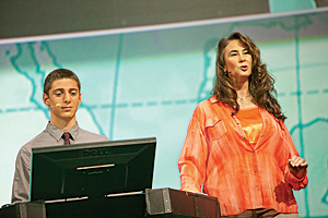 During the Plenary Session at the 2014 Esri User Conference, Dominique Evans-Bye, a science teacher at Clark Magnet High School, and her student Yeprem Chavdarian described how students are using ArcGIS.