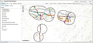 Pedestrian Gap Analysis identified the gaps that exist in pedestrian and bike routes.