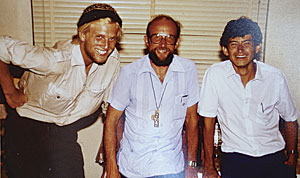 Richard Resl (left) shown with friends during a trip to Peru, Bolivia, Argentina, and Brazil in 1986. (Photo courtesy of Richard Resl)
