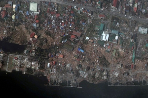 DigitalGlobe First Look imagery shows the destruction Typhoon Hayian caused in Tacloban, Philippines.