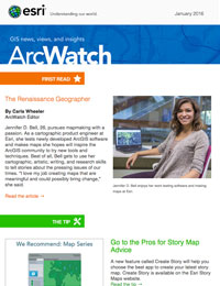 read the ArcWatch Jan. 2016 issue