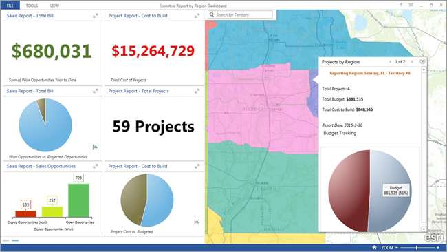 Senior management could use a similar operations dashboard with additional information from the utility's financial system, showing the costs of specific restoration activities or the value of work underway.