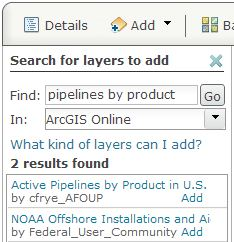 Search for pipelines by product.