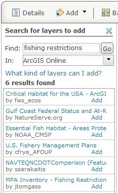 Search for fishing restrictions data.